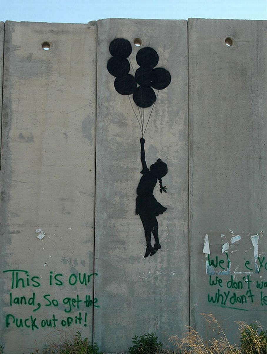 53 banksy graffiti artworks supercubed for Immagini di murales e graffiti