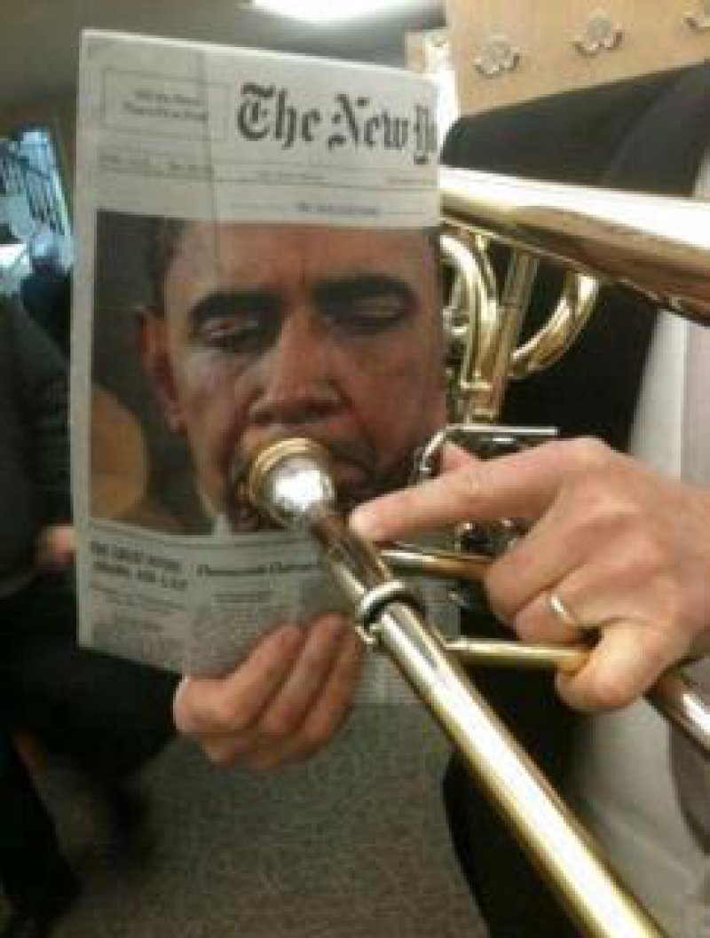 Obama playing his tune