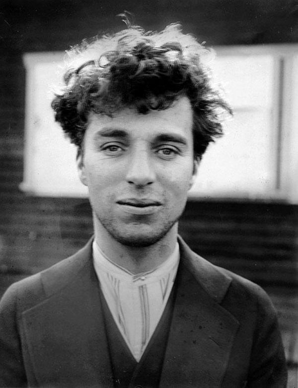 6.) A picture of the young Charlie Chaplin at age 27 in 1916.