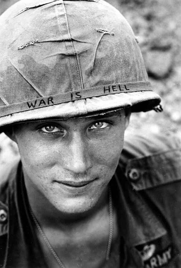 19.) An unknown soldier in Vietnam from 1965.