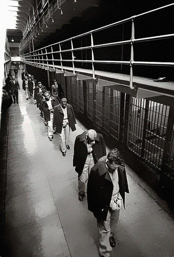 34.) The last of the prisoners leaving Alcatraz in 1963.