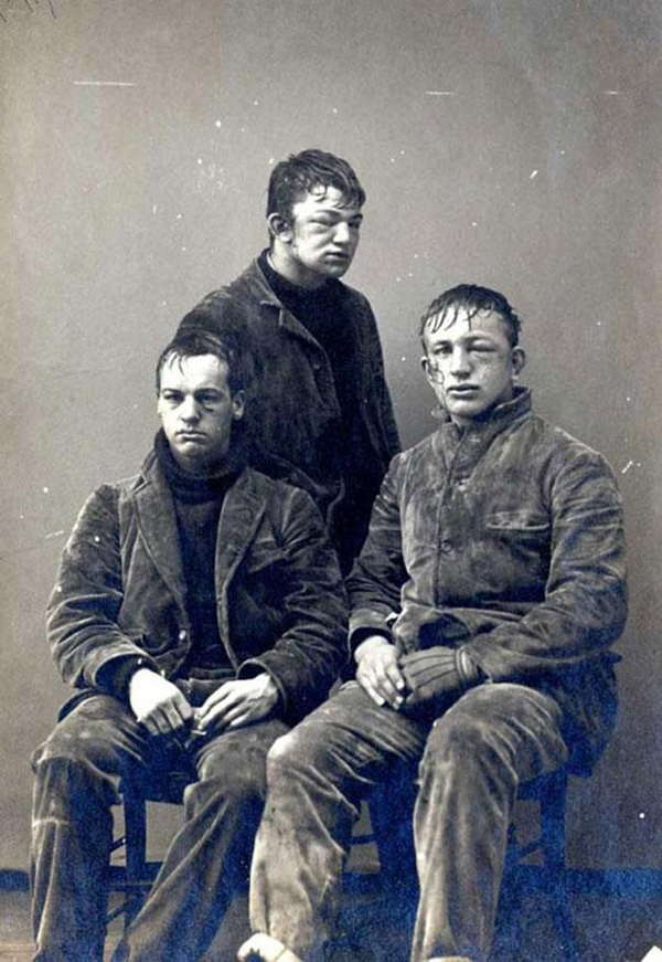 38.) Princeton students after a freshman VS sophomore snowball fight in 1893.